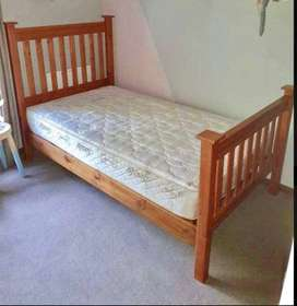 Beautiful oregon pine double bed for sale