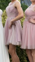 Sukienka różowa XS wesele studniówka impreza krótka