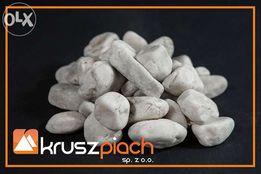 Żwir Kwarcowy Biały od 16 do 32 mm 16-32 mm ozdobny do ogrodu