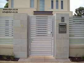 GALVANIZED SLIDING GATES AND PALISADE FENCINGV