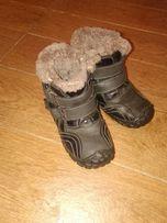 Зимние кожаные сапожки стелька 18,5 для мальчика