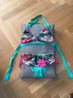 Dwuczęściowy kostium kąpielowy Triumph 36E kwiaty turkus fuksja