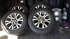Set of 18 inch Ford Ranger mags and tyres for sale