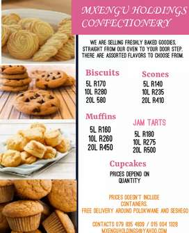 SCONES, MUFFINS AND BISCUITS FOR SALE IN POLOKWANE (MADIBA PARK)