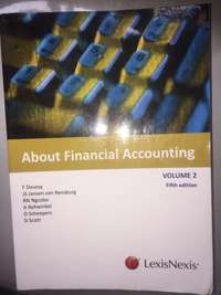 Image of About Financial Accounting volume 2 fifth edition LexisNexis F Doussy