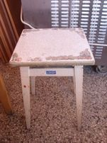 Taboret prl stary solidny
