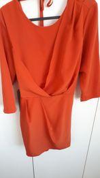 Sukienka Asos pomarańczowa, tulipan odkryte plecy