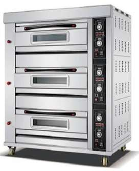3 DECK 9 TRAY BAKING OVEN WITH TIMER (GAS)