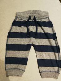 Spodnie bawełniane dresowe H&M 86