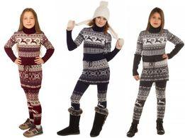 """Костюм """"Лапландия"""" платье и лосины: 128, 134, 140, 146, 152, девочки"""