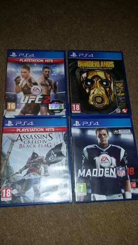 8 Ps4 Games to sell