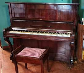 H. Wolfframm-Dresden Upright Piano with Stool - Beautiful Sound