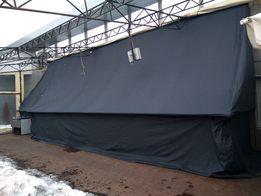 Тенты, шторы брезентовые и другие изделия из брезента.