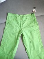 Nowe zielone letnie spodnie dlugie