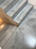 Posadzki, ściany,schody dekoracyjne Beton cire, żywica poliasparginowa