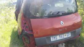 Tailgate of Renault scenic