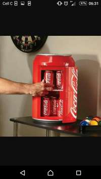 Image of Coca cola fridge mini can(sorry just SOLD IT)