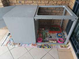 2 Rabbit With Cage & All Accessories