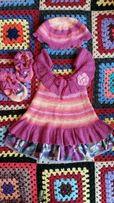 платье сукня пинетки крючком костюм для фотосессии для новорожденных