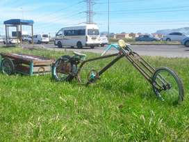 custom bicycle with trailer