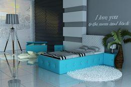 Śliczne łóżko dla dziecka, młodzieżowe, ekoskóra+gąbeczka, diamenciki