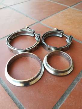 V Band Exhaust Clamps and Flanges
