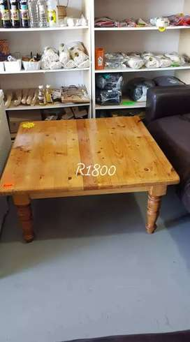 Coffee table oak wood.