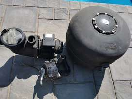 0.75 kw pool pump with sand filter and kreepy