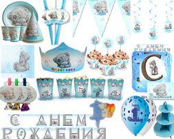Декор на день рождения Мишка Тедди (капкейки,кендибар,фотозона,шарики)