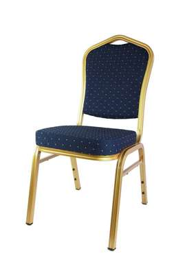 Royal blue stackable conference chair