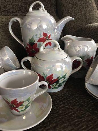 Очень красивый перламутровый чайный сервиз Днепр - изображение 6
