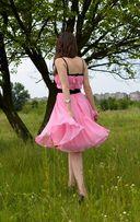 платье нежно розовое, юбка Мерлин Монро. нарядное, на Выпускной