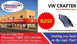 Brake Pads For VW Crafter For Sale.