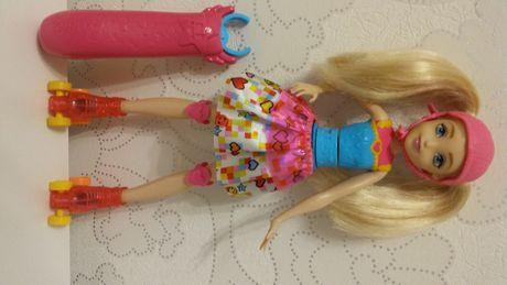 Lalka Barbie w świecie gier Barbie na wrotkach idealna Czeladź - image 2