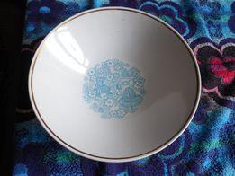 глубокая суповая тарелка новая необычный рисунок СССР