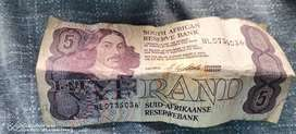 Old South African paper money