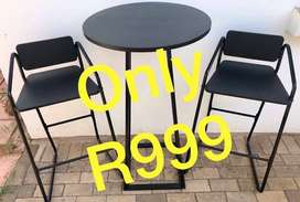 Table and chairs for R999