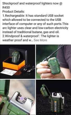 Waterproof, rechargeable lighters