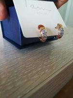 Новые серебряные серьги с позолотой
