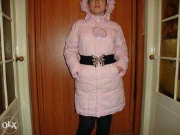 Нежно-розовая куртка-пальто новое состояние.