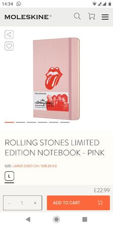 Moleskine The Rolling Stones Limited Edition Одесса - изображение 4