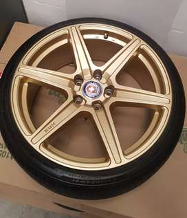 18 inch HRE lightweight rims with tyres