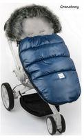 Śpiworek do wózka z futerkiem fluffy wodoodporny