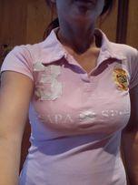 koszulka polo jeździecka SCAPA, rozm. S, różowa