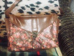 Сумка-портфель женская в цветочек