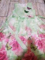 платье детское нарядное на 12 лет типа фатин бабочки праздник девочке