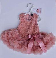 Новое новогоднее платье для фотосессии/ Розовое / Для девочки
