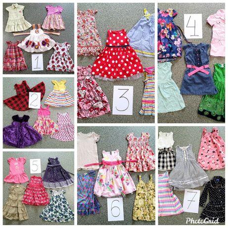 Платье на 3-4-5 лет, пакет платьев