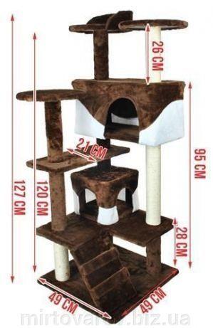 Домик для кошки, когтеточка, дряпка 120 см. Польша. Одесса - изображение 3