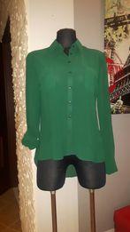 Bluzka koszula zielona rozpinana damska rozm.38